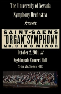 Saint-Saens 3rd symphony Poster